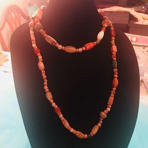 Bohemian Natural Gemstone Handmade Long Necklace